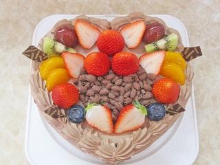 チョコケーキ(ハート)